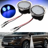 Paar Witte LED Zijspiegel Puddle Light voor Ford Edge Mondeo Focus C-Max Kuga S-Max