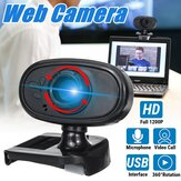 HD USB Webcam mit integriertem Mikrofon Video Web Class Kamera PC Laptop Desktop