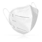 10 pezzi KN95 Maschere per il viso Maschera protettiva per la respirazione con filtro dell'aria antipolvere a 5 strati
