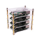 YAHBOOM® Raspberry Pi Cluster Experiment Caso Overlay Multiple Layers para 4B / 3B + / 3B / 2B / B +