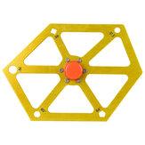 Régua hexagonal de liga de alumínio para serra de mesa Ferramenta de medição de múltiplos ângulos Medidor de ângulo de serra Ferramentas de ângulo de inclinação transferidor