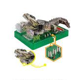 3D DIY оригами электрический крокодил стерео головоломки модель игрушки для детей