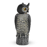 Rotating Head Owl Decoy Protection Repellent Bird Pest Control Scarecrow Garden Yard Decorations