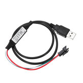 Mini USB 3 tasti tasti controller per DC5V 3 Pin WS2812 2811 Digital LED Strip Light