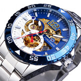 FORSINING TM366G Fashion Men Automatic Watch Business Stainless Steel Strap Mechanical Watch