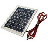 12V 5W 25.5 x 19 x 1.5CM polykristallijn zonnepaneel met alligator clipdraad