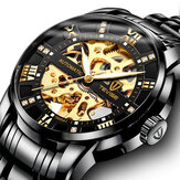 TEVISE T9005A Fashion Men Automatic Watch Hollow-Carved Desi