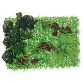 Mesterséges növény falpanel fű sövény lombozat függőleges borostyánkert 40x60cm