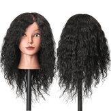 48センチメートル100%人間の髪の美容マネキンヘッド