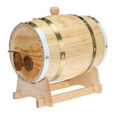 1.5 / 3L Wood Barrel Oak Brewing Vintage Tong Wines Whiskey Home Storage Holder