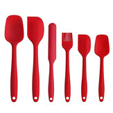 6PCS Non-Stick Rubber Spatula Set Heat-Resistant Spatula Kitchen Utensils Set Tools Kit