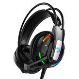 A12 Gaming Headset Headset Deep Bass Стерео Проводной Наушник С Микрофоном Светодиодный для ПК Компьютер