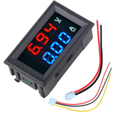 3pcs nMini Digital Voltmeter Ammeter DC 100V 10A Voltmeter Current Meter Tester Blue+Red Dual LED Display