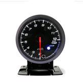 Universal 12V Coche Auto 2.5 Inch 60mm LED Medidor de gases de escape
