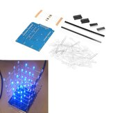 4X4X4 Blue LED Light Cube Kit 3D LED DIY Kit For Arduino Smart Electronics Led Cube Kit