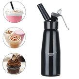 500 ml Siyah Krem Tereyağı Köpük Whipper Kahve Dessert Kek Hamur Dağıtıcı Maker ile Fırça Meme