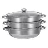 Panela de cozinha de aço inoxidável Panela de sopa fervente a vapor Conjunto de cozinha 28cm