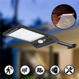 Solar Powered 36 LED PIR Motion Sensor Waterproof Street Security Street Light Wall Lamp for Outdoor Garden
