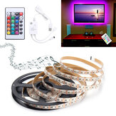 0.5M/1M/1.5M/2M/3M/4M Music Sound Activated Waterproof RGB 5050 LED Strip Light Kit DC5V