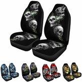 1/2Pcs Skull Front Car Seat Cover Protector Vehicles Interior Cushions Universal
