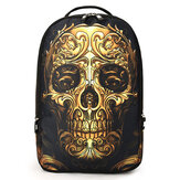 Men Women Outdoor Travel Skull Pattern Polyester Multifunctional Shoulders Bag Backpack