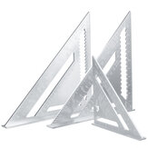 7/12'' Aluminum Alloy Angle Square Triangle Ruler Roofing Carpenter Wood Working Tool