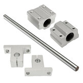 Machifit SCS8UU/SK8 8mm Shaft 200-1000mm Length Optical Linear Rail Guide Support CNC Set