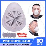 Respiratore Gas Maschera Protezione spray riutilizzabile per aria Occhiali Polvere Maschera Faccia Maschera