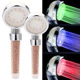 3 cores que mudam a cabeça de chuveiro Handheld da filtragem da cabeça de chuveiro LED de impulso da água