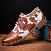 Erkek Mikrofiber Deri Desen Baharat Bağcıklı İş Elbise Ayakkabı