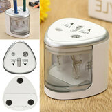 Electric Automatic Pencil Sharpener Dual Holes Battery for Office School