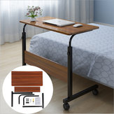 80x40cm Brown Computer Table Laptop Desk Mobile Adjustable Stand Work Study Lazy Home Office