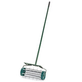 Outdoor Lawn Aerator With Mudguard Grass Care Heavy Duty Garden Roller Handle