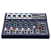 7 Channel DJ Audio Mixer bluetooth USB Reverb Effect Mixing Console Amplifier for Tiktok Youtube Live Broadcast Studio Karaoke DJ