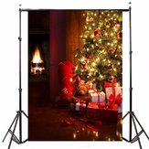 5x7FT Vinyl Christmas Tree Gift Photography Backdrop Background Studio Prop