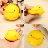 Squishy Duck Amarelo Soft Cute Kawaii Phone Bolsa Strap Toy Gift 7 * 6.5 * 4cm