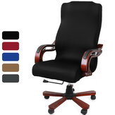 Elastic Velvet Office Chair Cover Fabric Computer Rotating Chair Protector Stretch Armchair Seat Slipcover Home Office Furniture Decoration