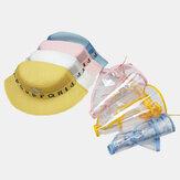Çocuklar / Küçük Çocuklar (1-4ys) Çıkarılabilir Yüz Ekranı Büyük Ağız Güneş Kremi çocuk Toz Kapağı
