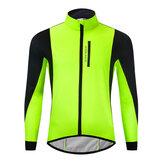 WOSAWEサイクリングジャケットウィンターサーマルフリースウォームMTBロードバイクウェア防風防水ロングジャージーウインドブレーカー