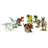 8pcs Different Dinosaur World Building Blocks Minifigure Toys