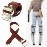 Stilts Straps Drywall Leg Banda Straps Kit Gancho E Loop Canvas Woven Brown