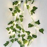 1X 2M Plantas Artificiais Led String Light Creeper Green Folha Ivy Vine For Home Wedding Decor Lamp DIY Hanging Garden Yard Lighting (vem sem Bateria)