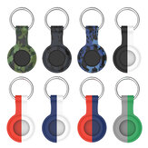 Bakeey Camouflage Portable Soft Silicone Protective Cover Sleeve with Keychain for Apple Airtags bluetooth Tracker