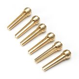 6pcs Durable Metal Brass Bridge Pins for Acoustic Guitar Golden Accessories