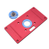 233x117x8mm Aluminum Router Table Insert Plate for Woodworking Benches RT0700C Router Trimmer Red