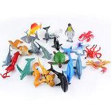 24 STKS Plastic Oceaan Dieren Figuur Zee Dolfijn Schildpad Wezens Model Speelgoed Gift