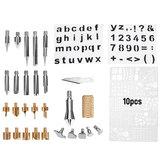 60W Electric Soldering Iron Adjustable Temperature Welding Wood Burning Tools Kit