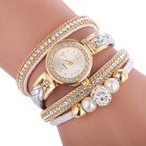 Moda círculo pulseira diamante mostrador simples vestido feminino feminino relógio de quartzo