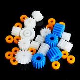 26 stücke Kunststoff Spindel Wurm Motor Zahnradsatz Und Hülsen 2mm 2,3mm 3mm 3,17mm 4mm