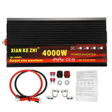 2000W / 3000W / 4000W Power Inverter Pure Sine Wave Transformer 12V / 24V til 220V Auto
